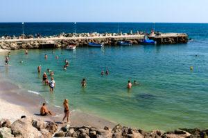 Beach at Nessebar, Black Sea, Bulgaria, Europe