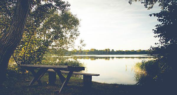 Quiet lakeside spot