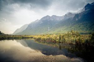 Neuseeland, Südinsel, Mirror Lakes,