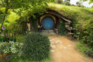 New Zealand, Matamata, Hobbiton Movie Set, Earth House,