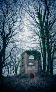 old tower, wood, abandoned