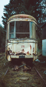 verlassene Straßenbahn
