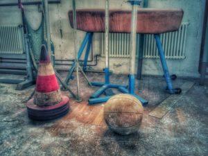 Lost Place, alte verlassene Turnhalle