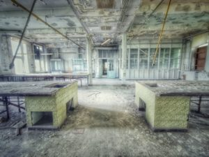 Lost Place, old abandoned laboratory