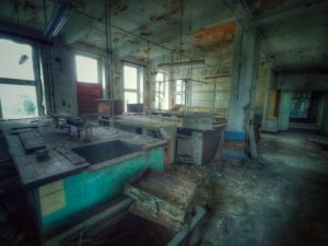 Lost Place, altes verlassenes Labor