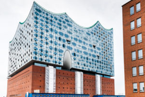 Hamburg, Elbphilharmonie, window eye-shaped, digitally arranged