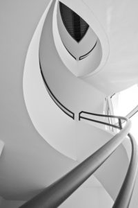 stairwell, houses of Munich, digitally arranged