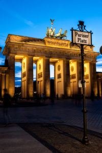 Berlin, Brandenburg Gate at night