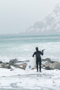 Winter surfers