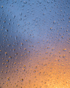 Drops of water at the window