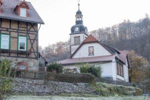 Deutschland, Sachsen-Anhalt, Neuwerk, Schule am Hüttenplatz, Fachwerkhäuser, Rübeland, Harz.