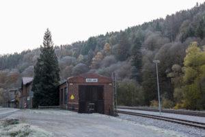 Deutschland, Sachsen-Anhalt, Rübeland, alter Lokschuppen, Harz.