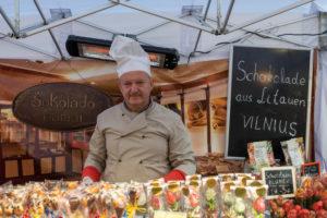 Deutschland, Sachsen-Anhalt, Wernigerode, Schokoladenhersteller aus Vilnus, Litauen, zu Gast beim Schokoladenfestival Wernigerode, Harz.