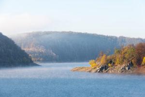 Germany, Saxony-Anhalt, Upper Harz, reservoir, Rappbodetalsperre Wedefurth, Harz.