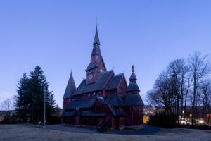 Deutschland, Niedersachsen, Harz, Goslar, Gustav-Adolf-Stabkirche in Hahnenklee, 1907 - 1908 erbaut, Vorbild dafür war die Stabkirche von Borgund in Norwegen.