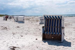 Strandkörbe auf der Insel Hiddensee