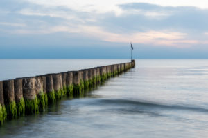 Breakwater on the island of Hiddensee