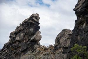 Deutschland, Sachsen-Anhalt, Weddersleben, Teufelsmauer, Mini-Gebirge aus Sandstein zwischen Blankenburg und Ballenstedt im UNESCO Global Geopark Harz, steht seit 1833 unter Naturschutz.
