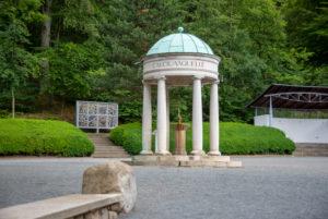 Deutschland, Sachsen-Anhalt, Bad Suderode, Behringer Brunnen, Wahrzeichen des Kurzentrums in Bad Suderode.