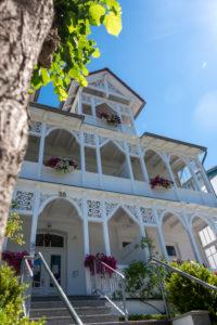 Germany, Mecklenburg-Western Pomerania, Ruegen island, Sellin, White Villa, Wilhelmstrasse, resort architecture