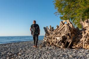 Germany, Mecklenburg-Western Pomerania, Sassnitz, beach at the Wissower Klinken, Jasmund National Park, Unesco World Natural Heritage, Baltic Sea