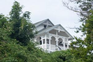 Germany, Mecklenburg-Western Pomerania, Sassnitz, house on a slope, resort architecture