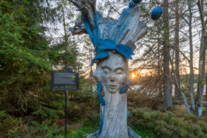 Germany, Lower Saxony, Upper Harz, legendary figure Frau Holle at the Oderteich in the Harz National Park