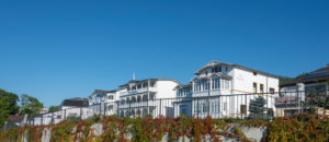 Germany, Mecklenburg-Western Pomerania, Sassnitz, houses in the style of the resort architecture, Baltic Sea, Ruegen island