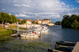 Saône port in Seurre, Burgundy