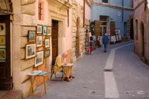 Alley in Sorano, Tuscany