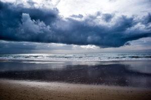 Spain, Andalusia, Conil de la Frontera, sea, clouds