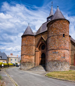 Saint-Martin fortified church in Wimy