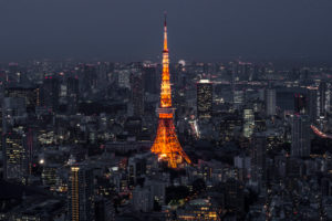 The Tokyo Tower at night