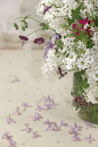 Arrangement with lilac in vintage style