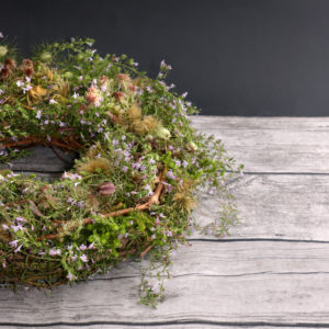 Wreath of moss and herbs
