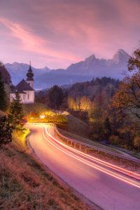 Berchtesgarden, chapel, Watzmann