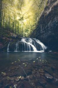 Josefsthaler waterfalls, Bavaria Germany, manipulation