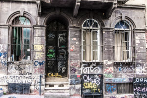 Hausfassade, Graffiti, Istanbul, Beyo?lu