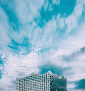 Elbe Philharmonic Hall in the Hafencity district, Hamburg, Germany