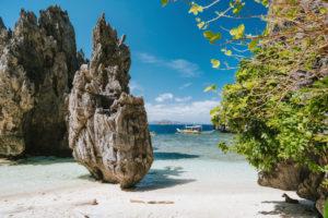 Secret lagoon El Nido Palawan, the Philippines.