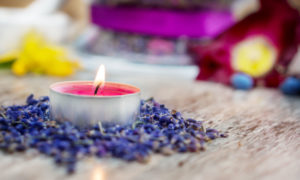 Aromatherapy with lavender