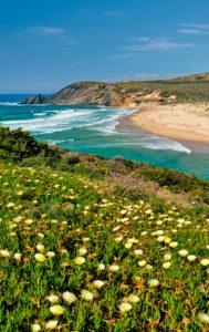 Amoreira beach, the Costa Vicentina, Algarve, Portugal,