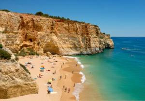 Benagil beach, near Carvoeiro, the Algarve