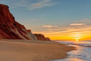 Praia da Falesia, Algarve, Portugal, at dawn