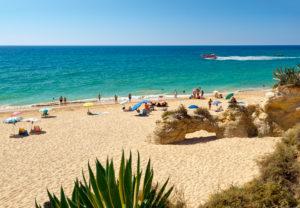 Detail of Armacao de Pera beach, the Algarve