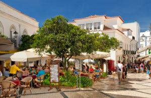 A street restaurant in Lagos, the Algarve, Portugal