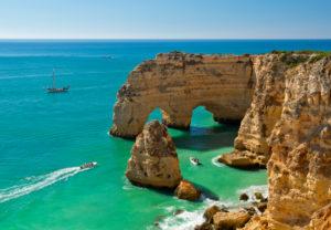 Praia da Marinha rock arches, the Algarve, Portugal
