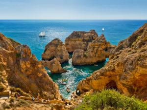 Portugal, the Algarve, Lagos, Ponta da Piedade,