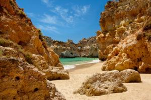 Praia dos Tres Irmaos, Alvor, the Algarve, Portugal