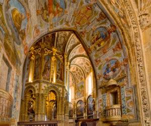 The Charola, round Templar church in the Convent of Christ ( Convento de Cristo ) Tomar, in the Centro region of Portugal, formally the Ribatejo.